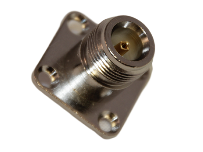 N connector chassisdeel vierkant